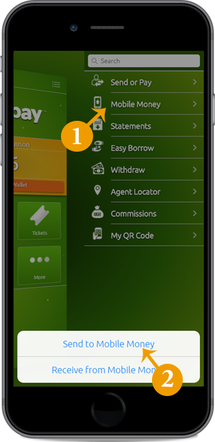 Transfer money from Easypay to your mobile money account
