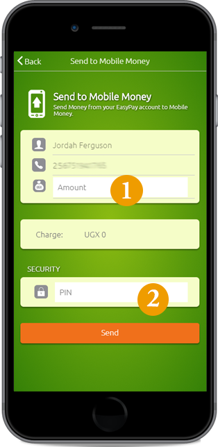 easypay wallet to your mobile money account