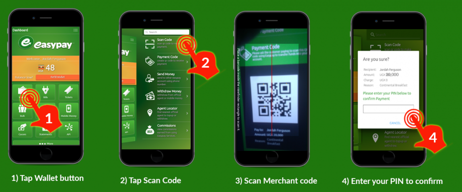 How to pay using qr code (Customer)