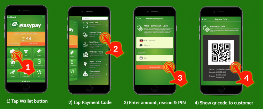 How to generate a payment qr code in Easypay